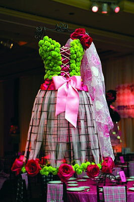 Best Use Of A Floral Mannequin For A Bat Mitzvah