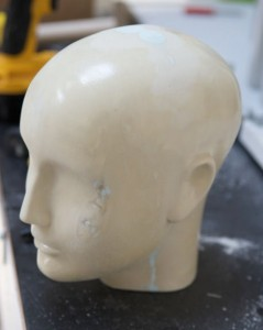 Mold of Mannequin Head