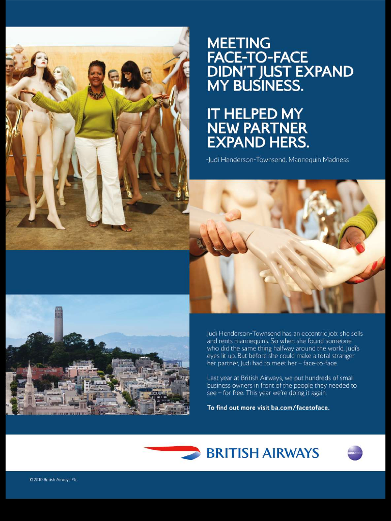 British Airways promotes small business
