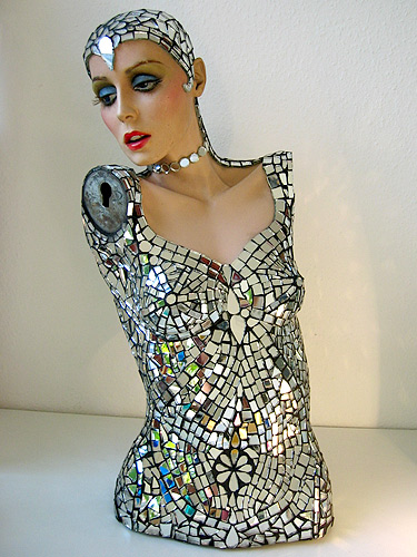 Mosaic artists transform mannequin parts into works of art