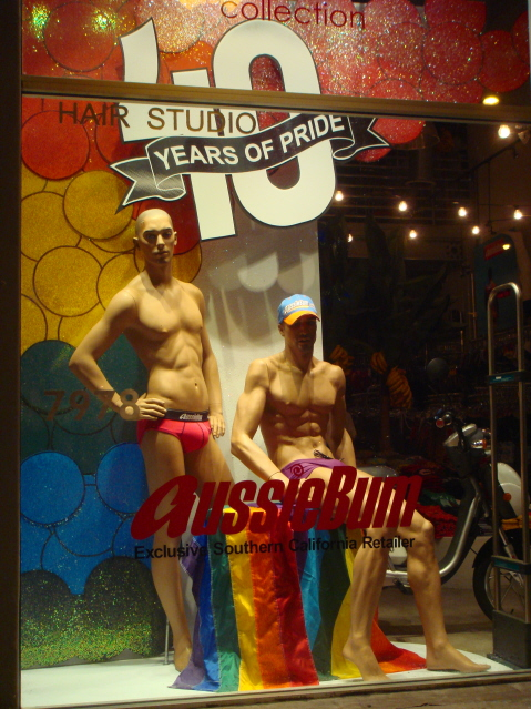 Gay Pride Window Display by Keith Dillion
