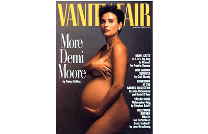 remember this vanity fair cover of a pregnant nude demi moore it s. Black Bedroom Furniture Sets. Home Design Ideas