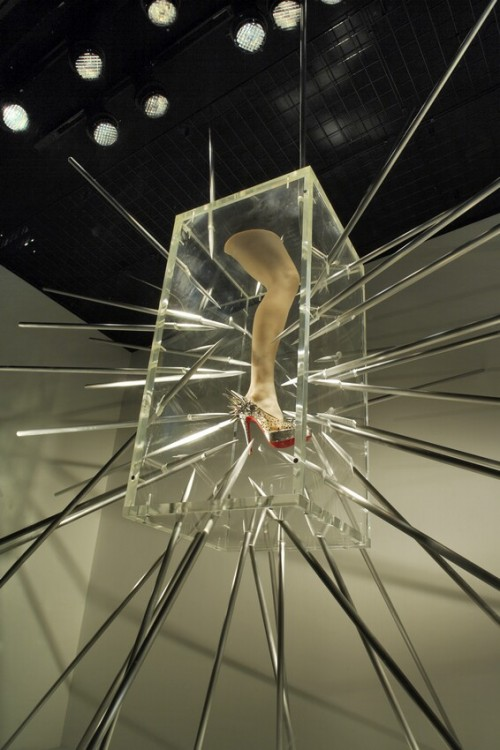 Outrageous Method to Display Shoes in a Retail Window Display