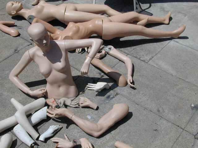 scene from mannequin boneyard
