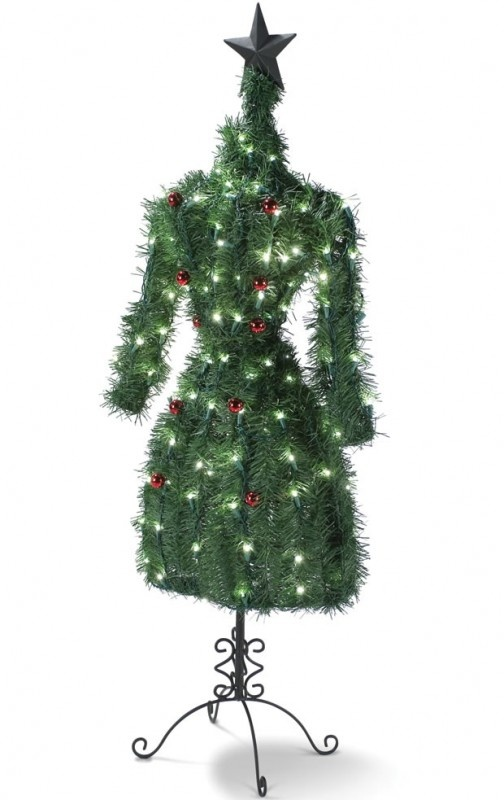 You can see four examples of other diy dress form christmas trees here