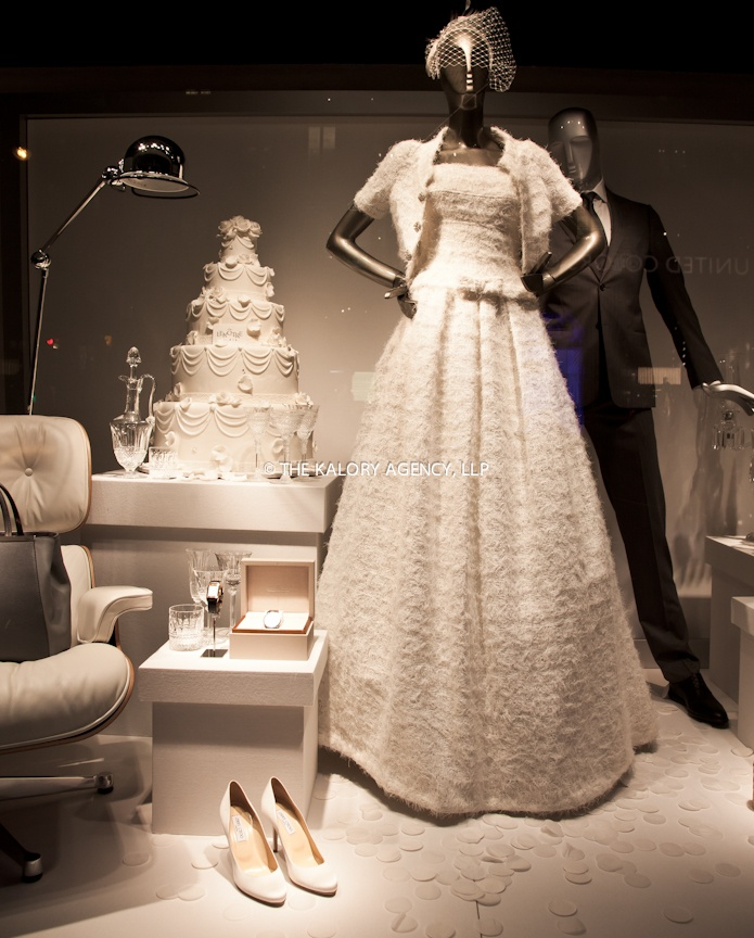 Bridal window displays that appeal to the non traditional for How to display a wedding dress