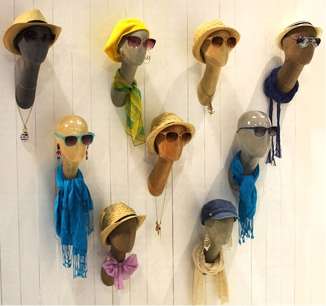 Wall Mounted Mannequin Heads Offer Versatile Display Options