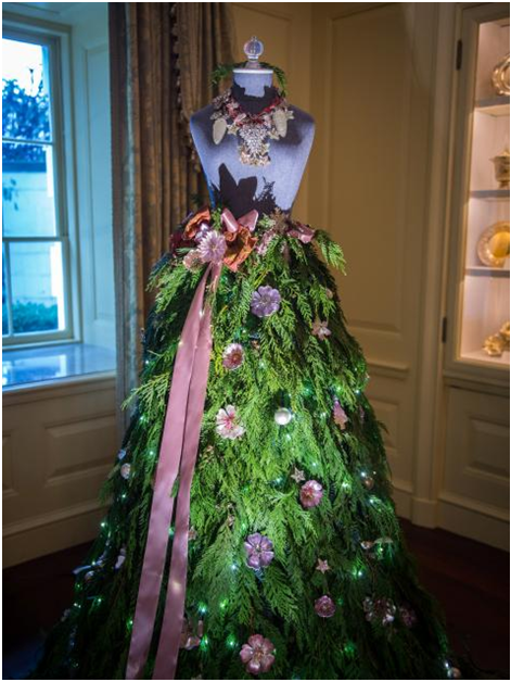 Dress forms christmas trees at the white house the mannequin