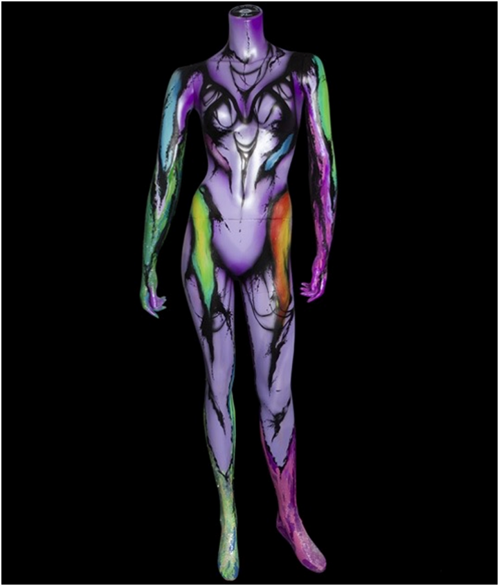 Colorful Body Art On Mannequins