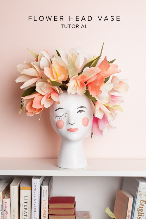 How To Turn A Mannequin Head Into A Flower Vase