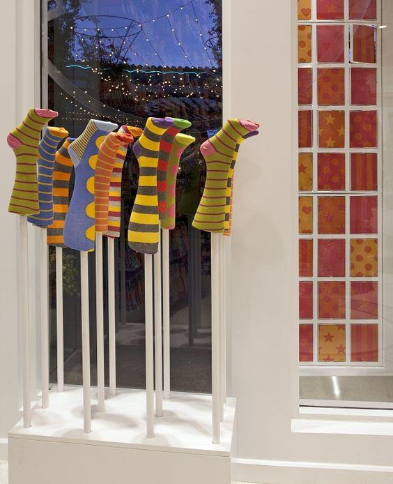 Best Looking Sock And Hosiery Displays For Store Windows