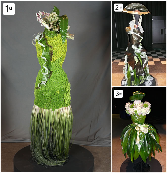 Award Winning Floral Designs Using Mannequin Dress Forms