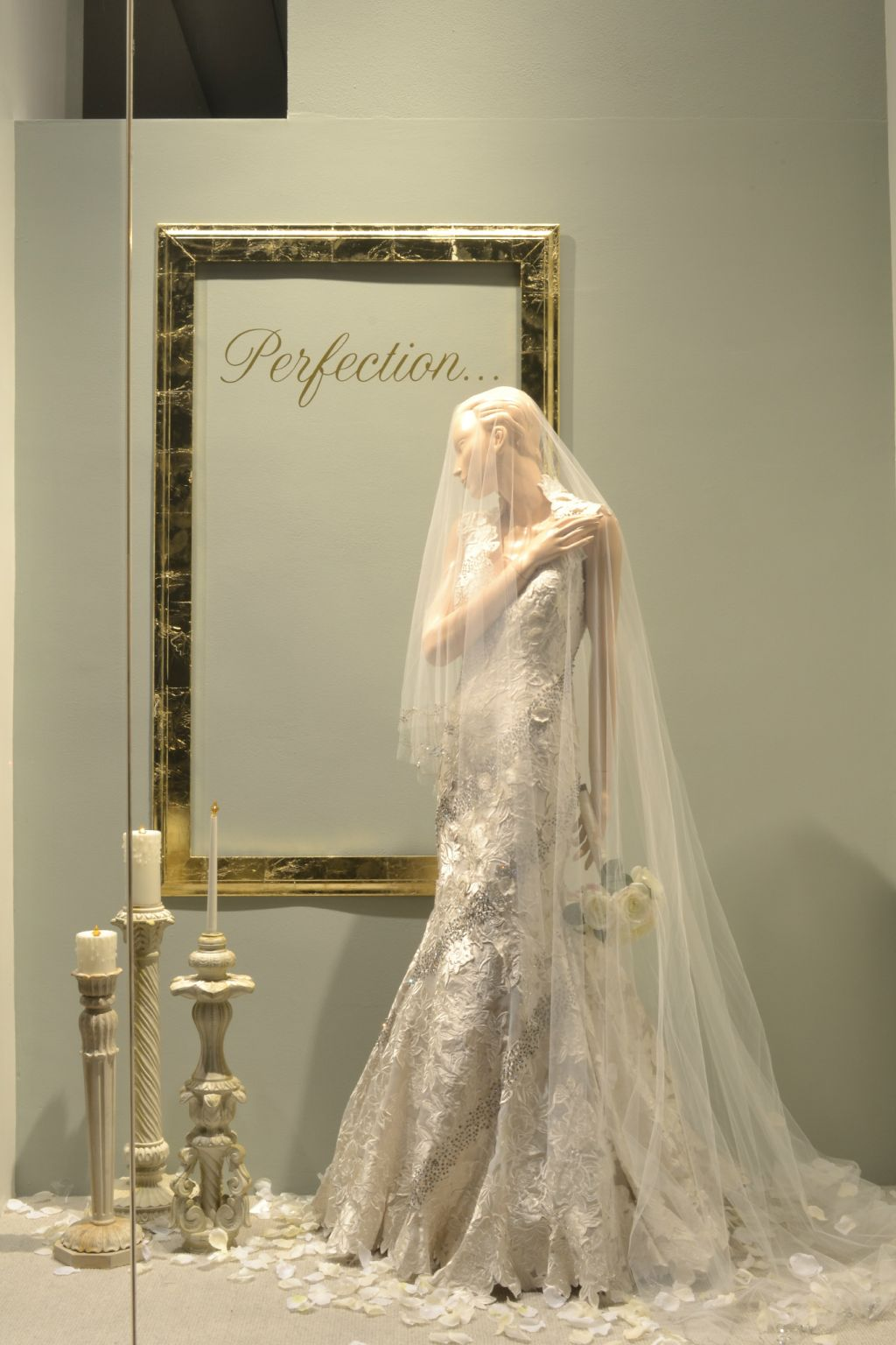 The Perfect Winter Wedding Window Display