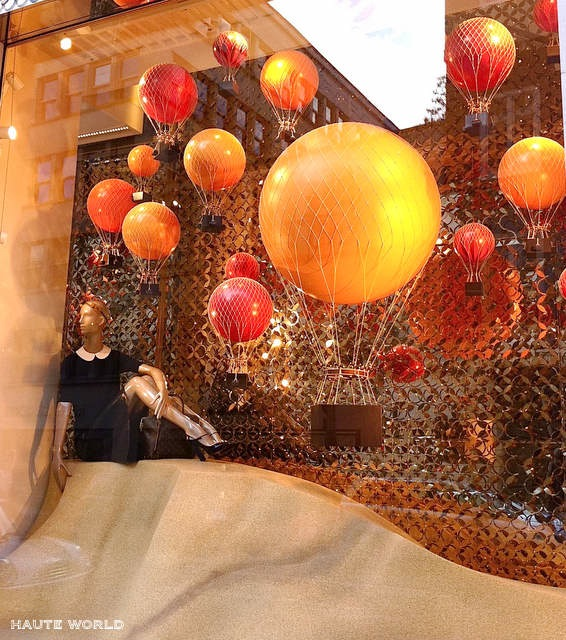 Up Up And Away Elegant Window Displays Using Balloons
