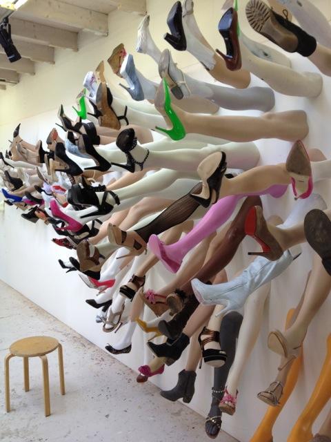 European Artist Uses Mannequin Legs For Public Art Project