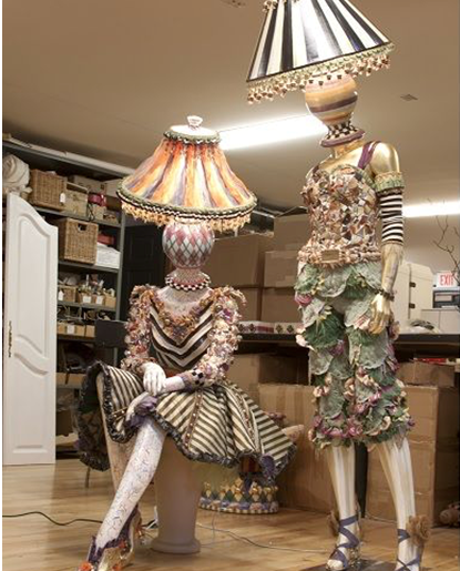 Behind the Scenes Look at the Incredible MacKenzie-Childs Mannequin Lamps